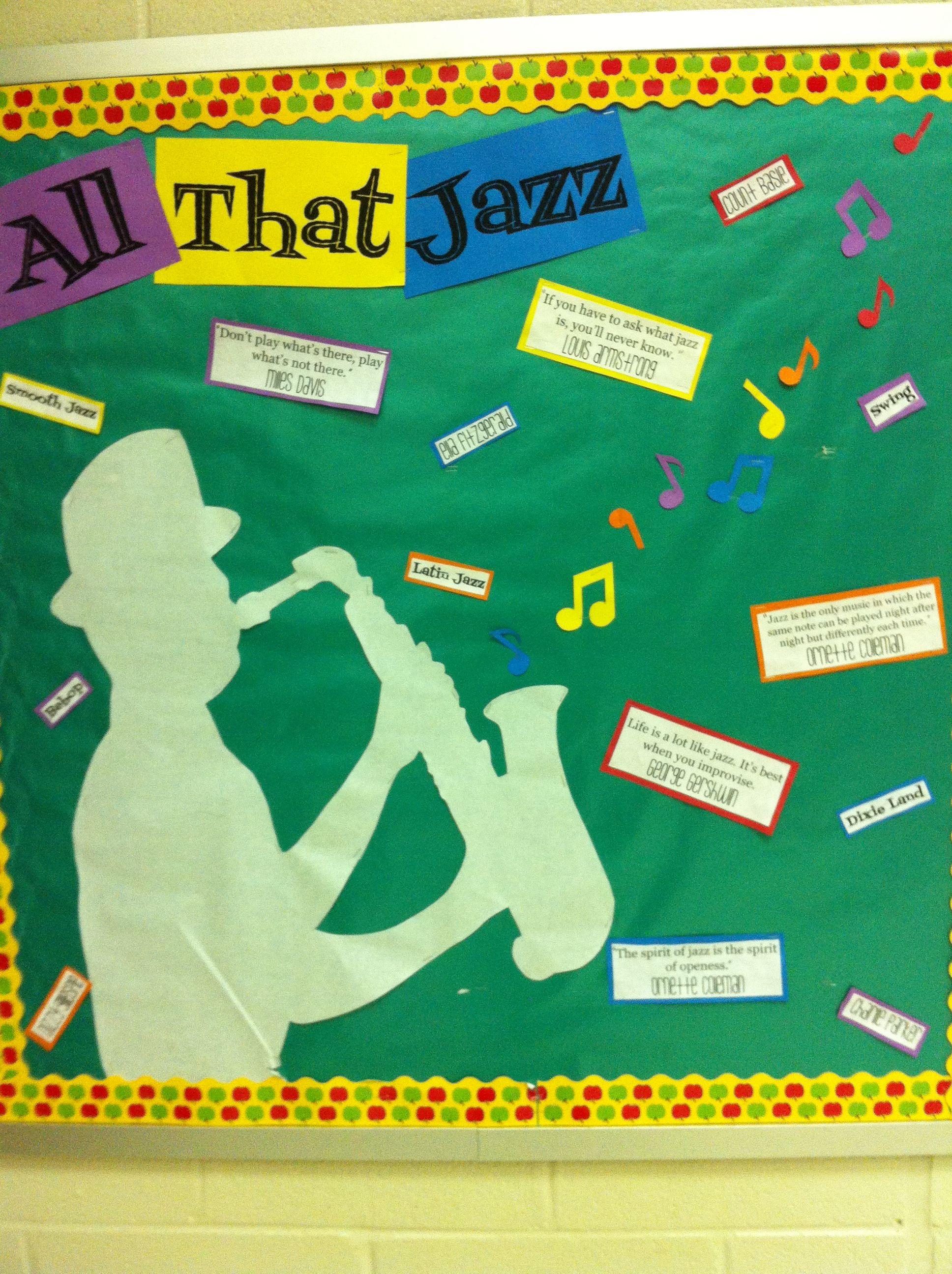 All that jazz all that jazz classroom decor jazz