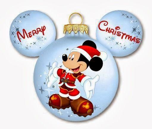 Imprimibles de disney para navidad con mickey y minnie for Adornos navidenos mickey mouse