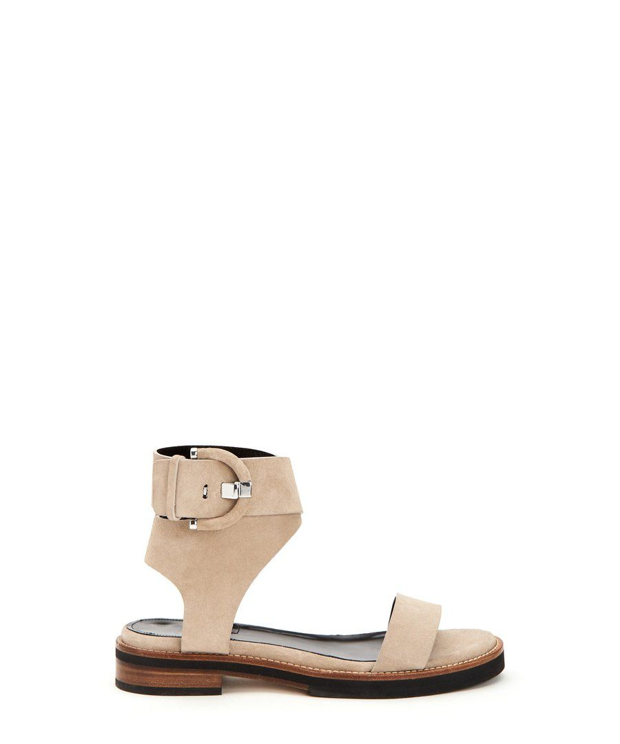Henley Strappy Sandals Flat Leather Socks Sandals
