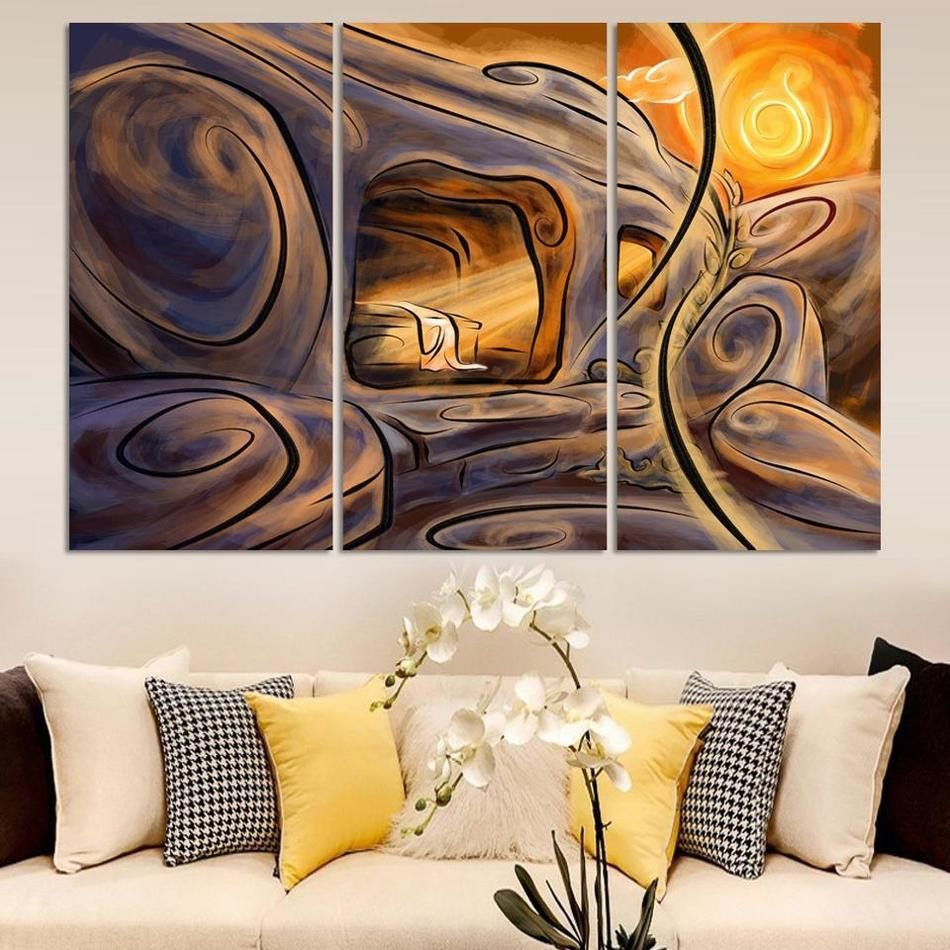 Free shipping best-selling Multicolored wall High Q. Home Decoration  Abstract Oil Painting print