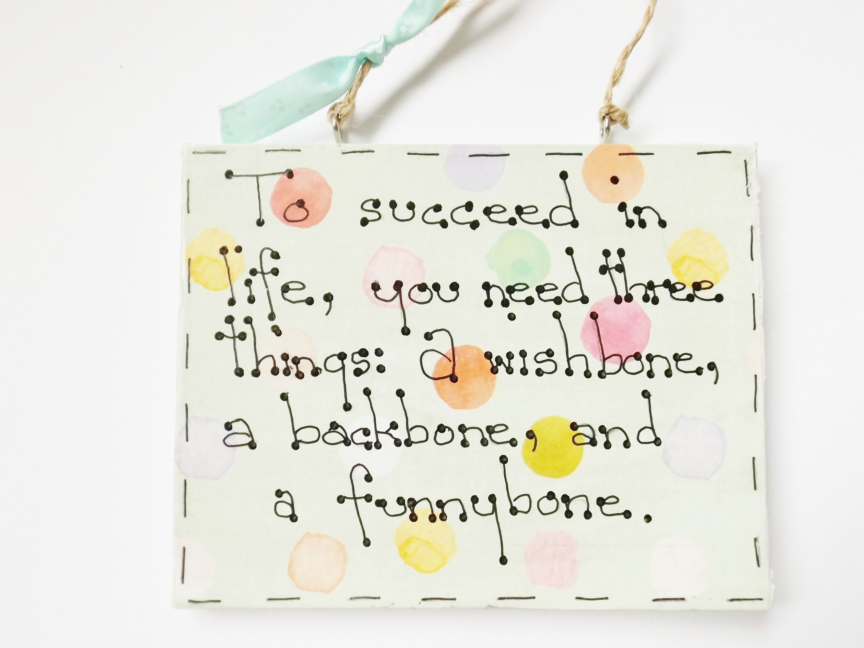 Hanging Ornament Funny Sign Wall Plaque