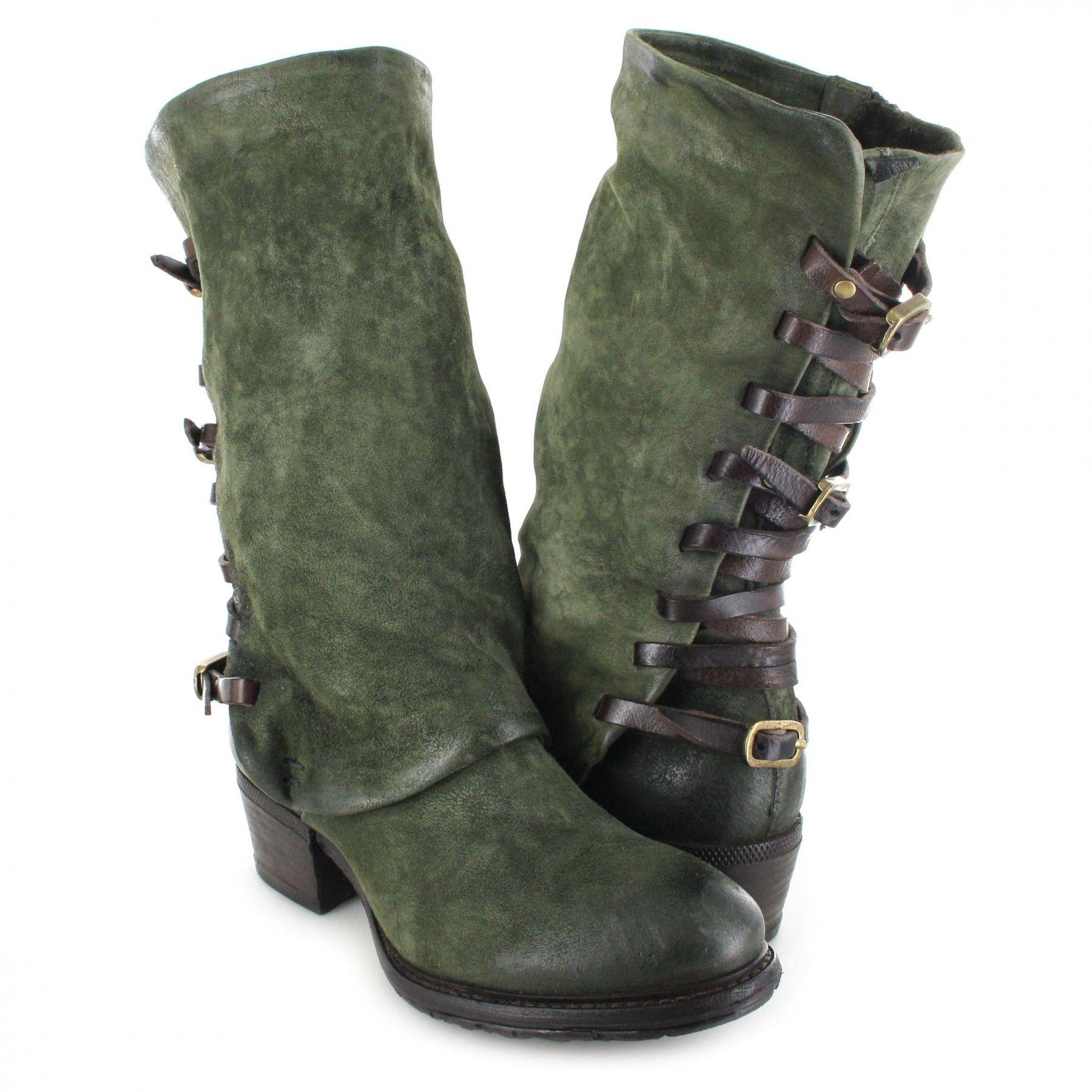 huge selection of e372c a0167 A.S.98 CORN17 260305 Jungle Fashion Stiefelette - grün ...