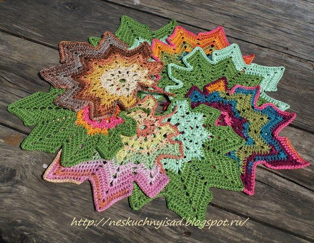 Crochet leaves diagram tapetes tapete de croch e folhas ccuart Image collections