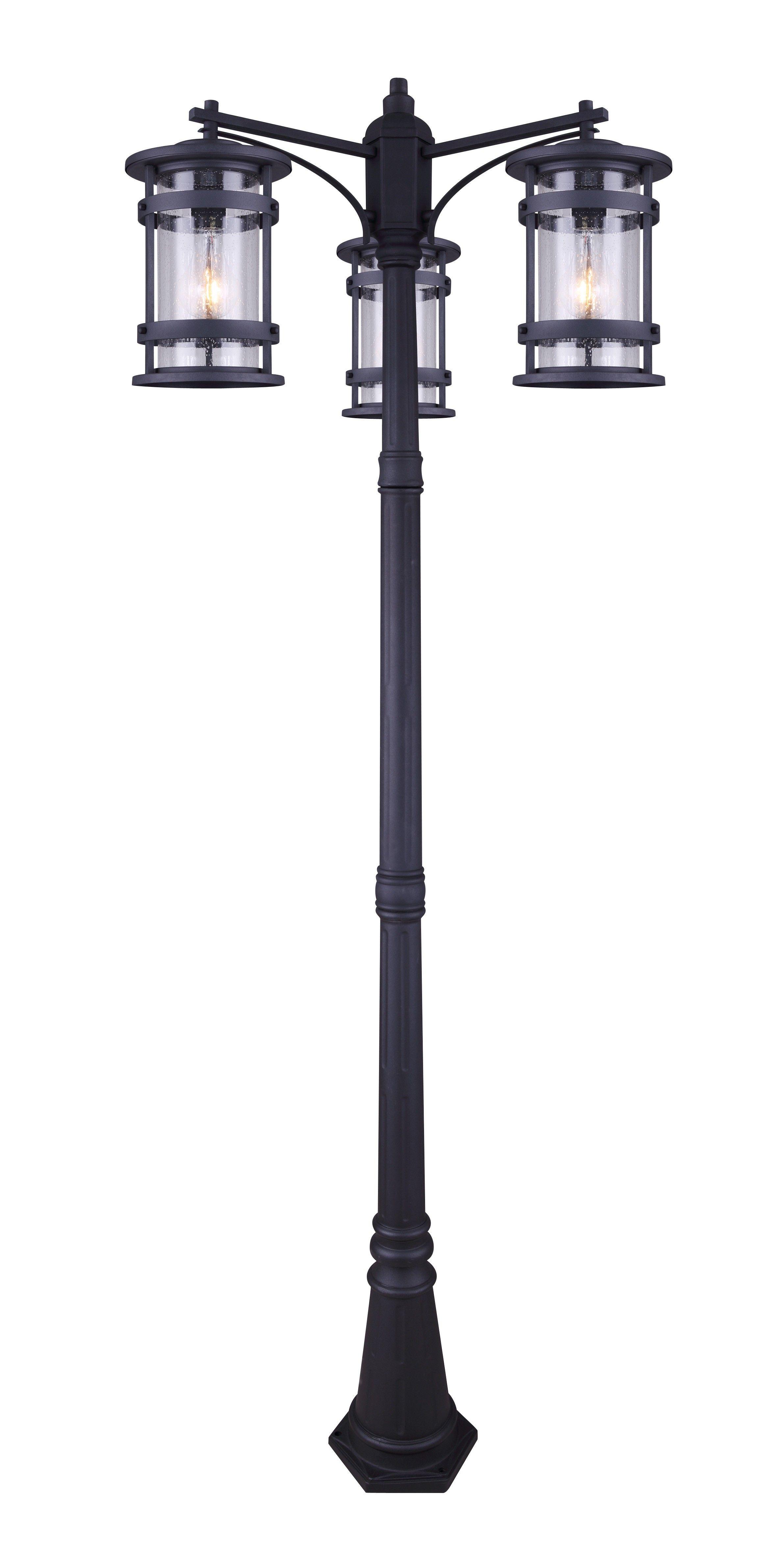 Canarm Iol344bk Duffy 3 Light Outdoor Post Light Black Outdoor Post Lights Post Lights Outdoor Lamp Post Lights