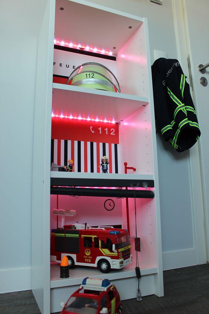 Ikea Kinderzimmer Billy Regal Feuerwache Kreativ Gebastelt Gute