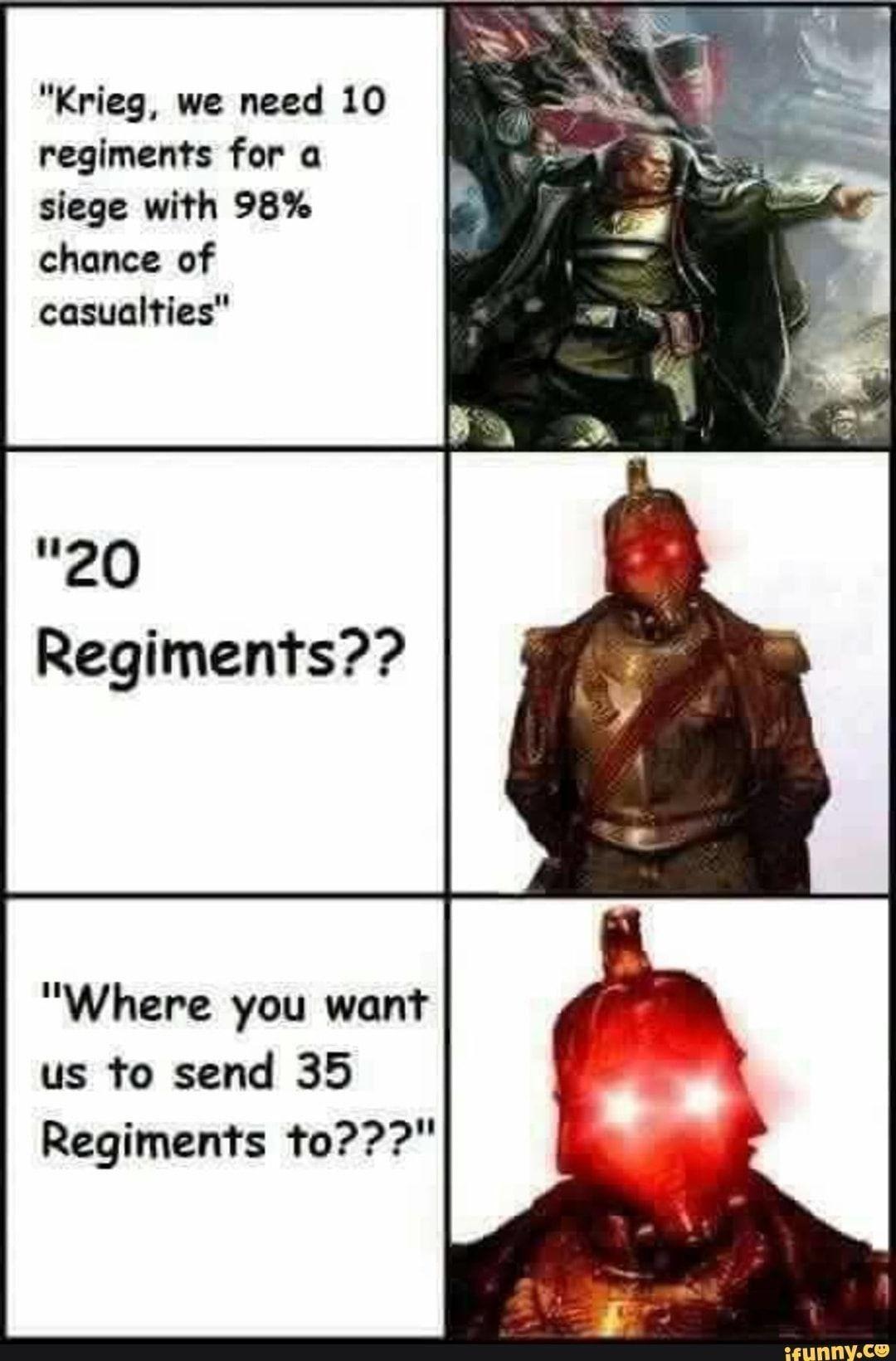Krieg in a nutshell | Warhammer 40k memes, Warhammer ...
