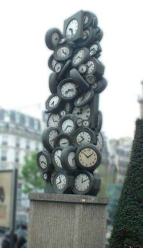 paris clock sculpture called lu0027heure de tous by sculptor arman by paris train station gare st