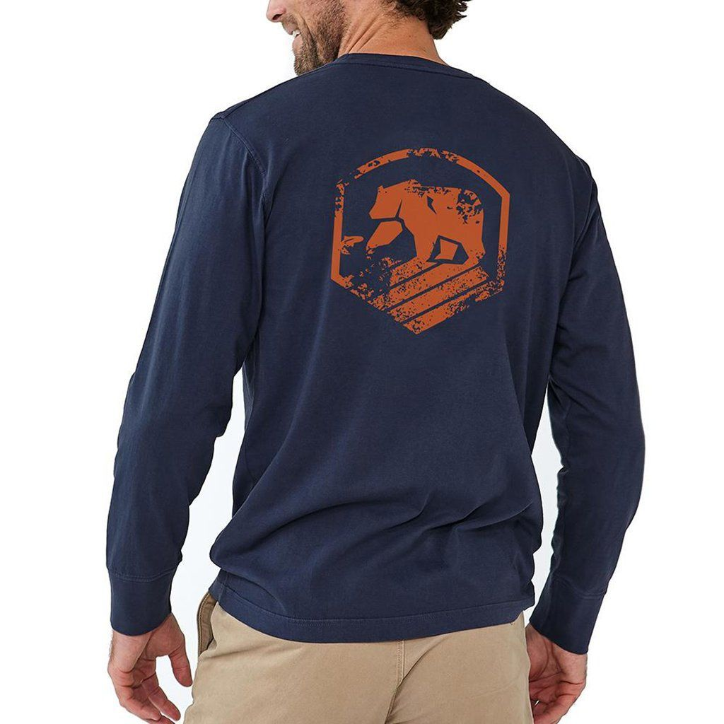 Long Sleeve Vintage Active Wear T in Navy by The Normal Brand