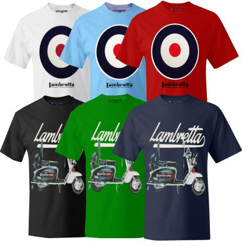 We now have these Lambretta T-shirts in stock in 2 Styles.