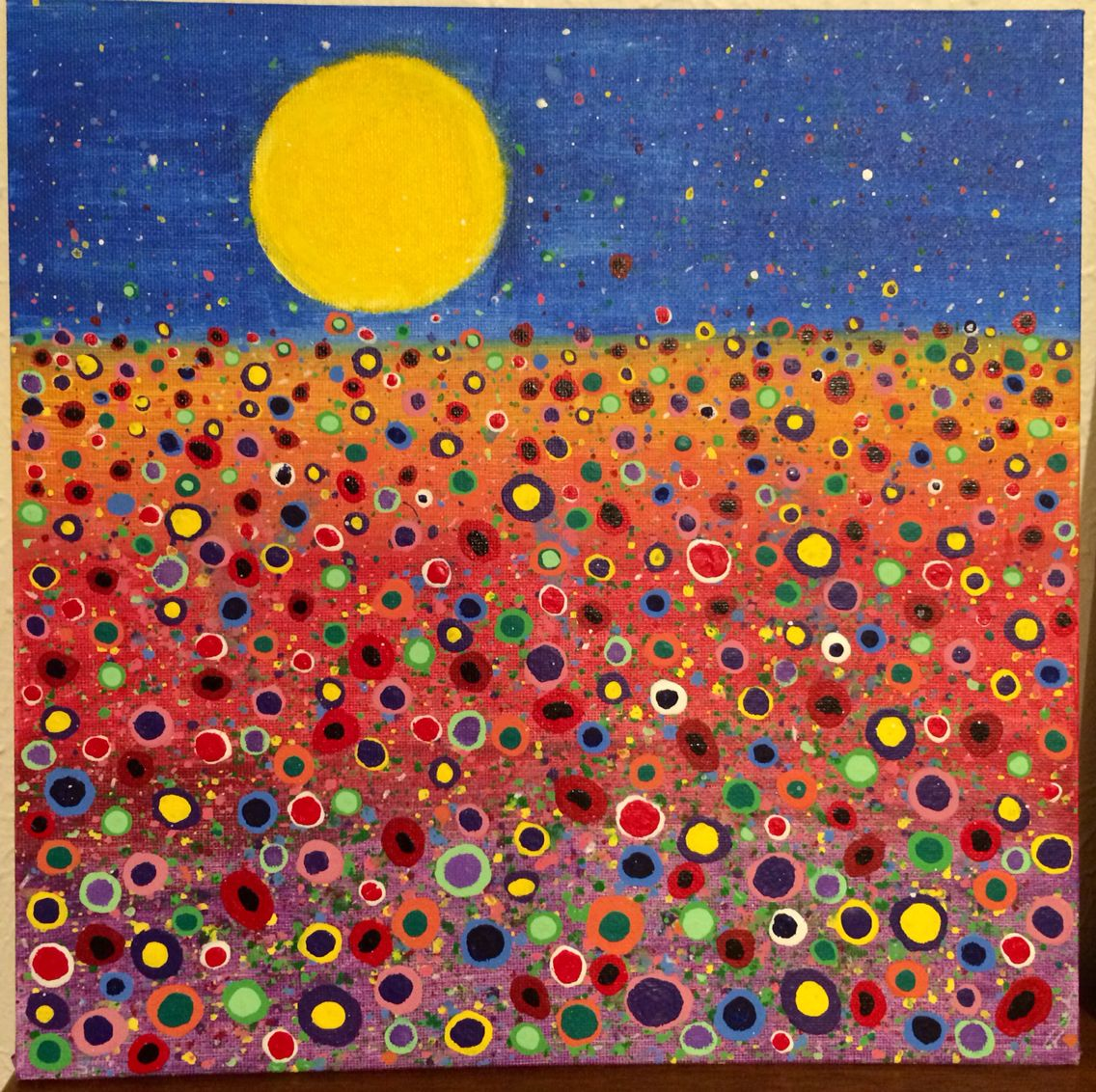 I painted this one from Angela Anderson's tutorial based on Yvonne Coomber's style.