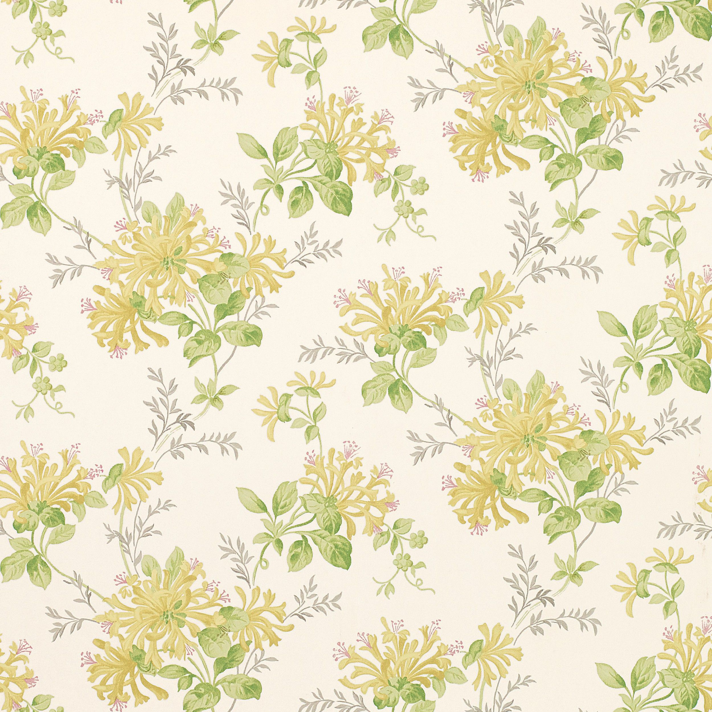 Honeysuckle Trail Camomile Yellow Floral Wallpaper At Laura Ashley
