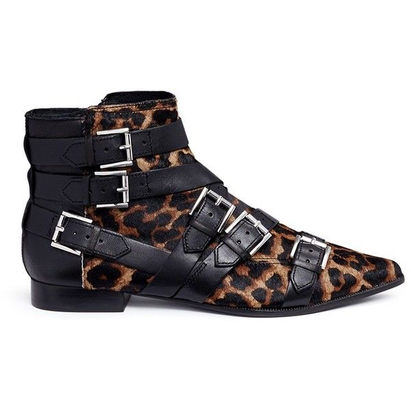ed211afef20c Ash  Blast  leopard print ponyhair ankle boots (€235) ❤ liked on ...