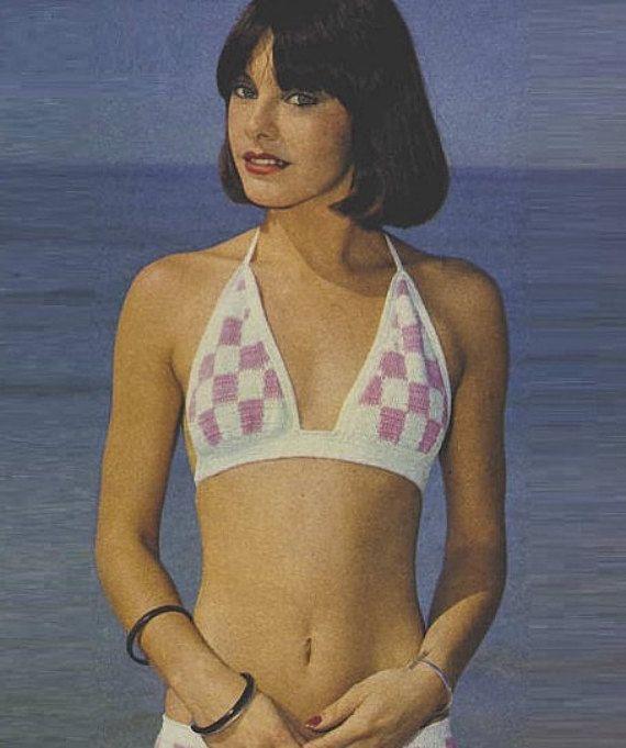 Crochet Bikini Pattern Vintage 70s Crochet Swimsuit Pattern Crochet