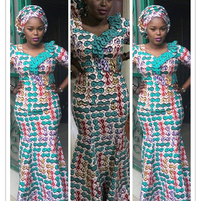 Ankara Skirt and Blouse Design http://www.dezangozone.com/2015/08 ...