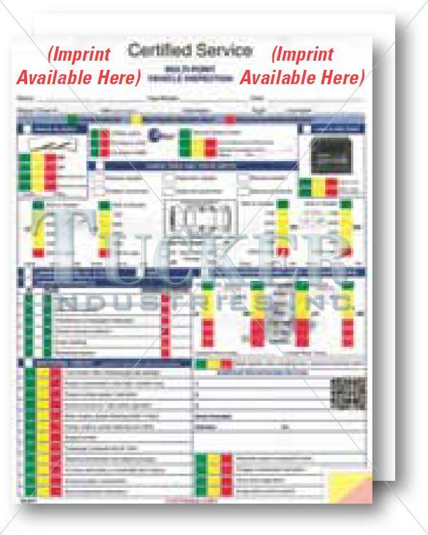 GM Multi-Point Inspection Form - Imprinted - 500 per pack Great - vehicle inspection form