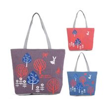 Handled Style 100% Cotton Print custom canvas tote bag from China