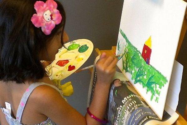 Acrylic on Canvas Feel Artistic Studio Everett, WA #Kids #Events
