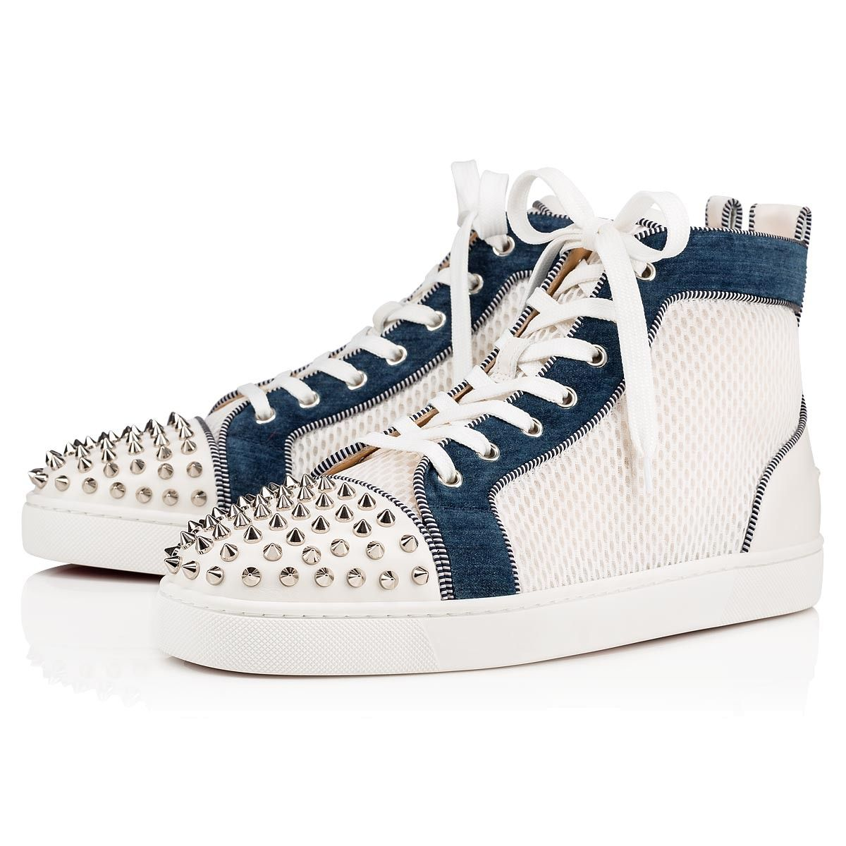 Lou Spikes Orlato Version natural Fabric and Calfskin Men