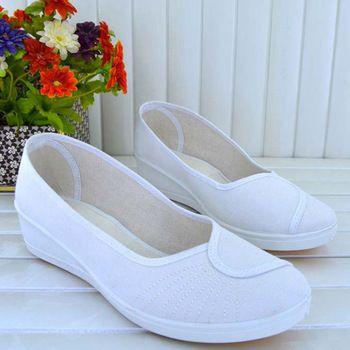 2015 diseñador zapatos de la enfermera blanca para para zapatos de vestir  planos algodón músculo de la vaca zapatos de lona mujer zapatos planos  blancos ...