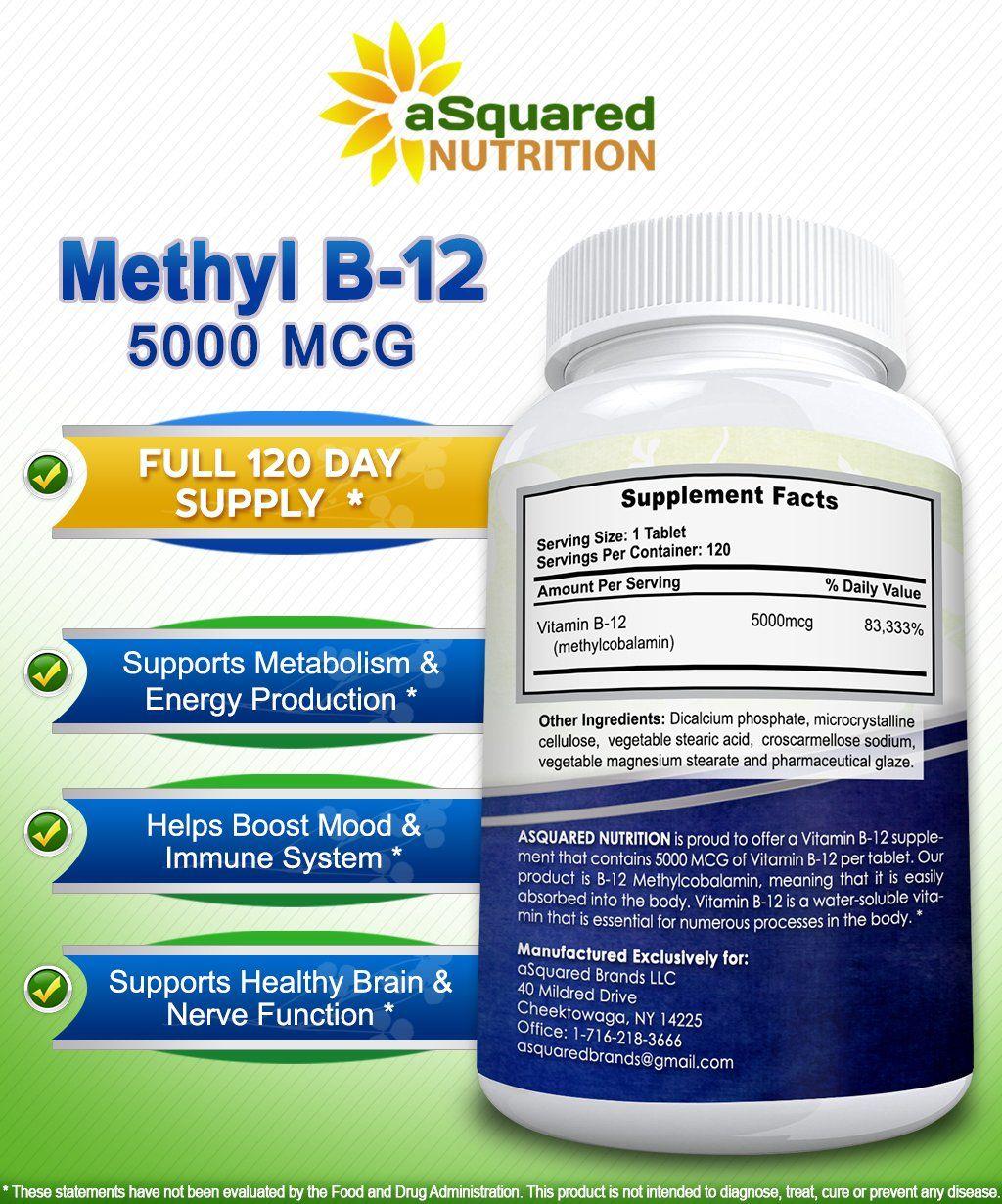 Fertility Supplements - Vitamin B12 5000 MCG Supplement ...