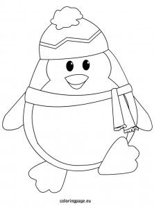 Printable Winter Coloring Sheets Penguin Penguin Coloring