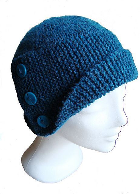 Ravelry: Buttoned Cloche - english pattern by verstrickt.eu