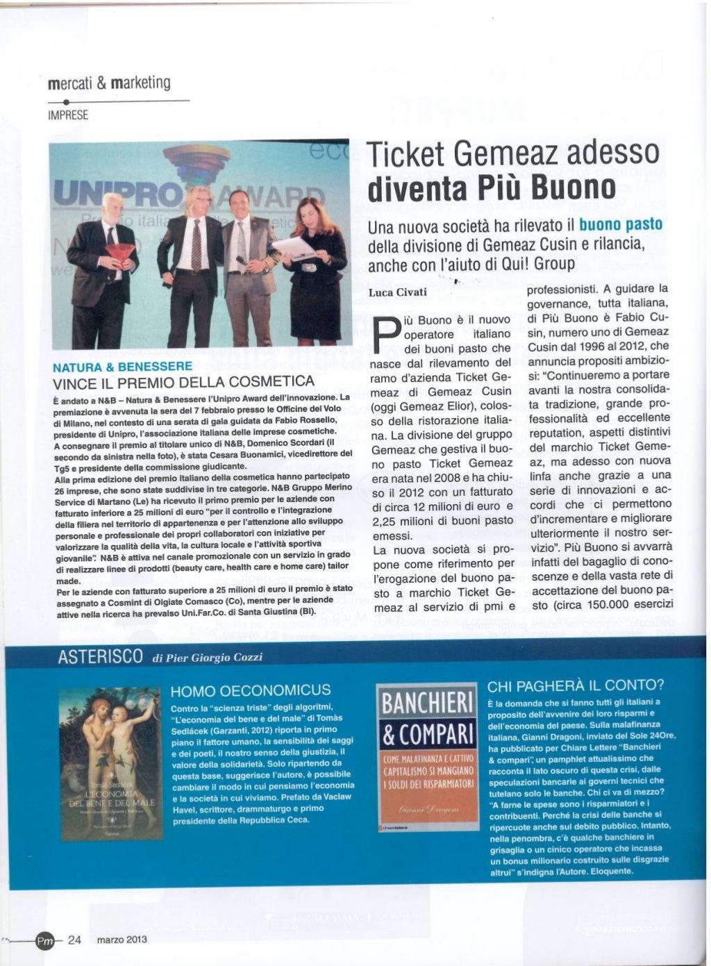 promotion-magazine-03 13 Ticket gemeaz diventa Più Buono ed entra a far parte del gruppo Qui! Group di Gregorio Fogliani