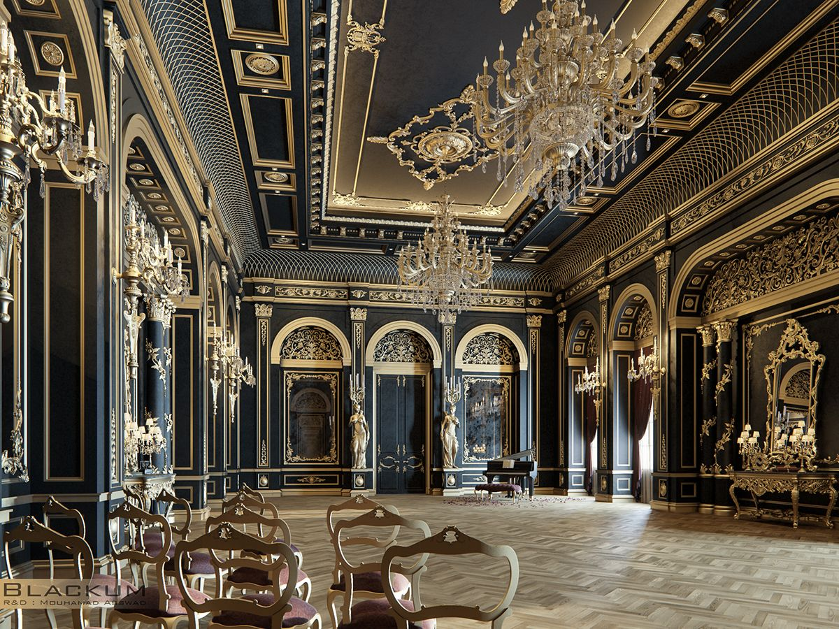 Luxury Mansion Design Interior: Blackum...Mixing Between Gold & Black Color In Luxury