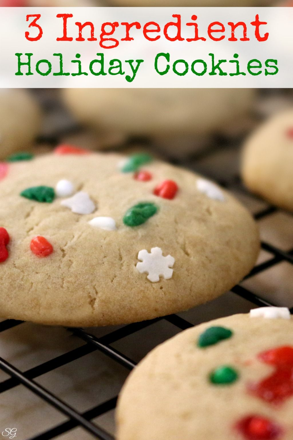 Easy Three Ingredient Brown Sugar Holiday Cookies With Fun Holiday