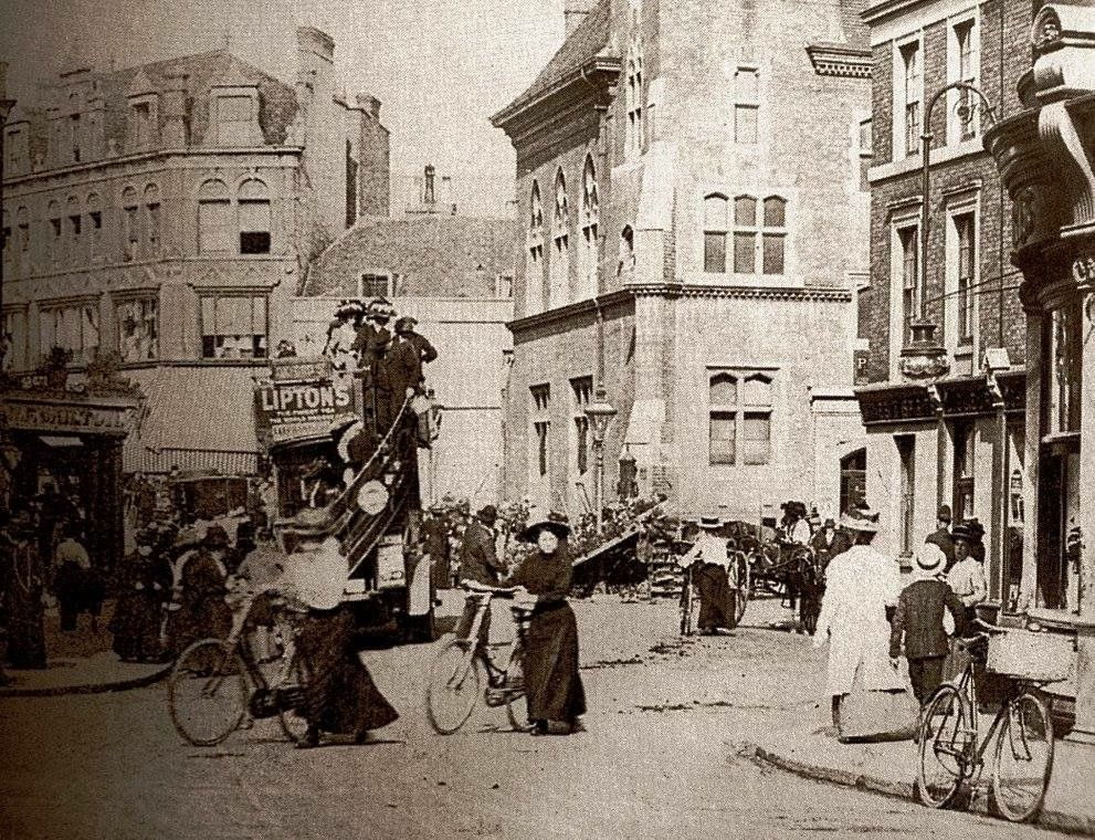 Bromley Market Square Kent England In The Early 1900s
