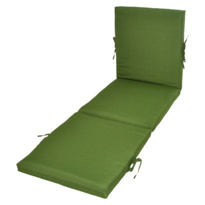 Threshold™ Outdoor Chaise Lounge Cushion - Green Textured