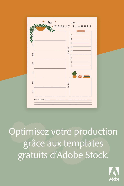Optimisez votre production grâce aux templates gratuits d'Adobe Stock.