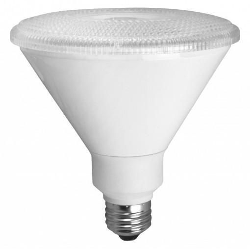 The Tcp Led17p38d24kfl 17 Watt Elite Dimmable Led Par38 Flood Comes In A White Finish And Features A 40 Degree Narr Led Flood Lights Dimmable Led Led Spotlight