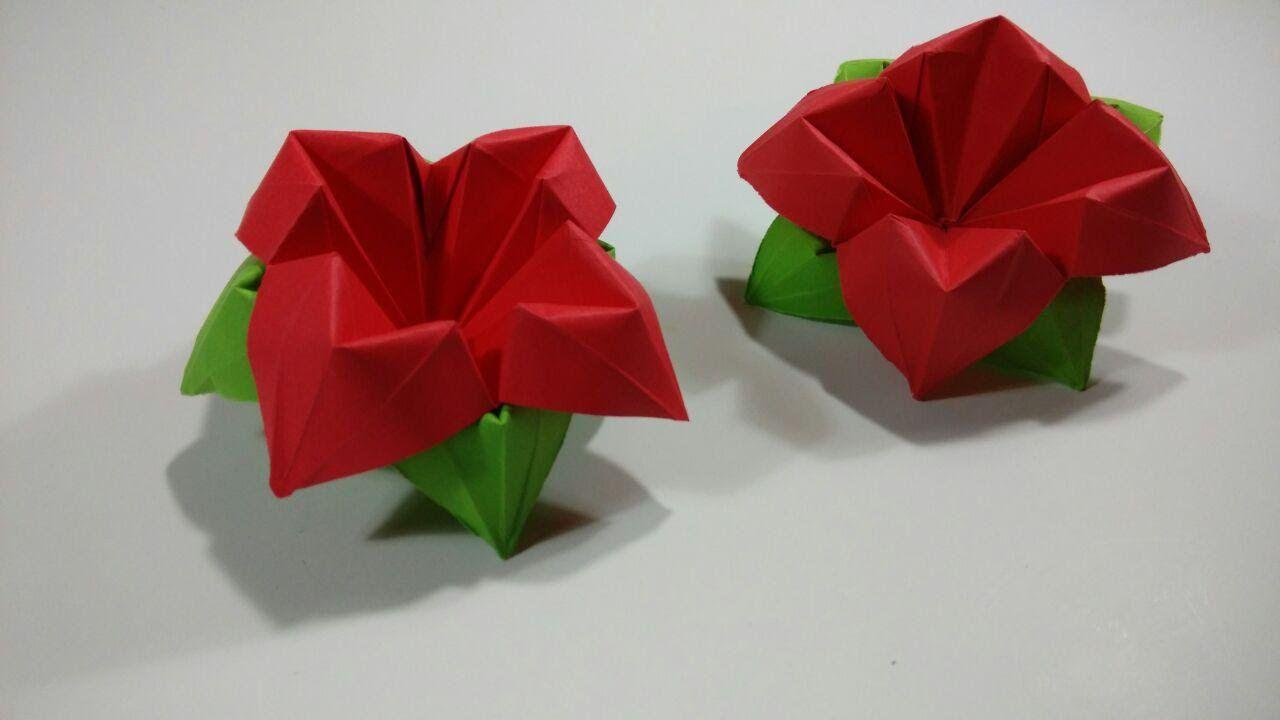 Como Hacer Una Flor De Papel De Cuatro Petalos Origami