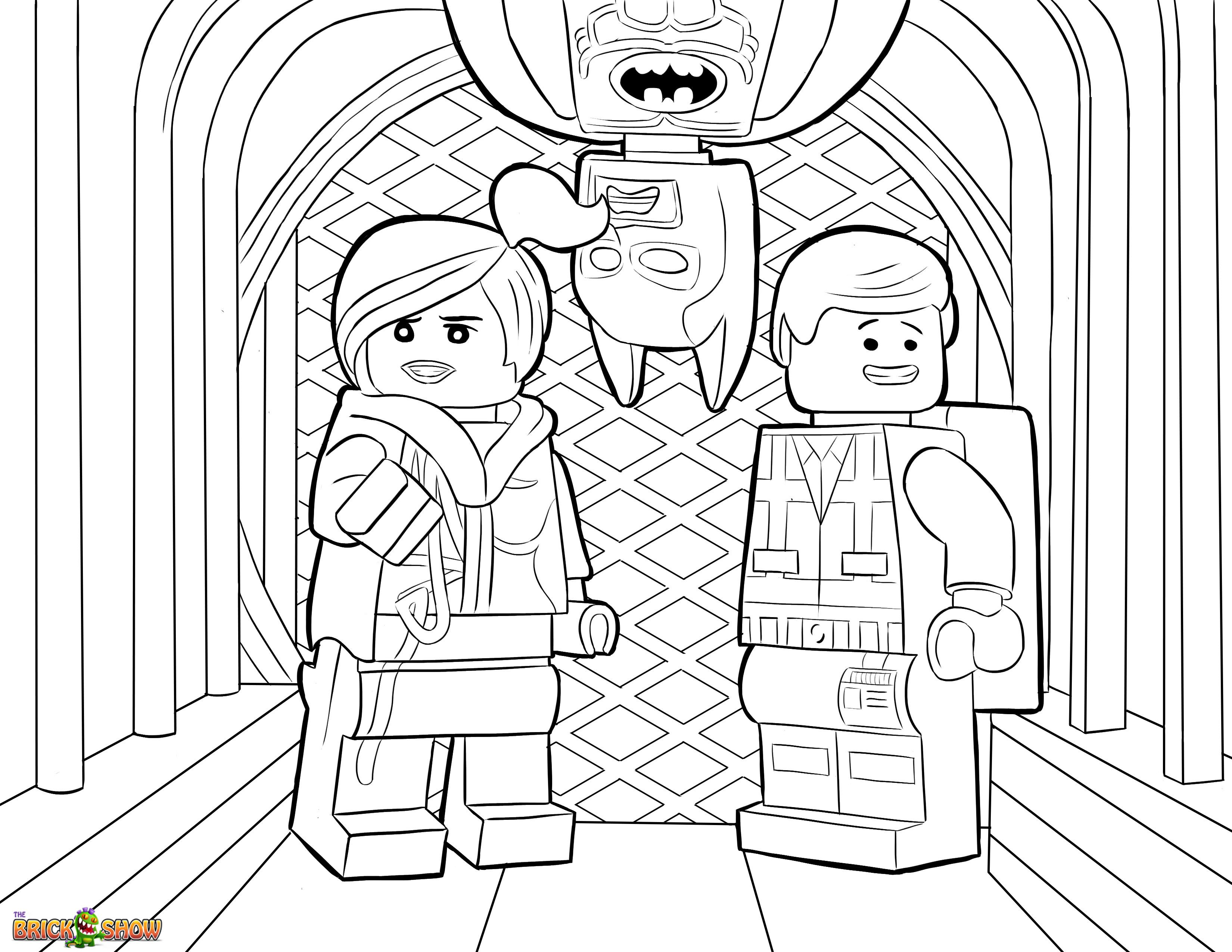 The Lego Movie Coloring Page Lego Wyldstyle Emmet