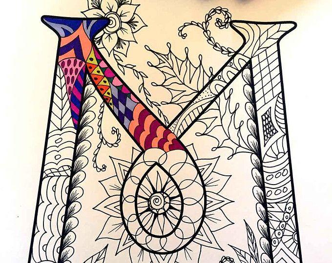 8 5 X 11 Pdf Malvorlagen Von Den Grossbuchstaben C Inspiriert Durch Die Schriftart Harrington Spass Fur Alle Coloring Pages Alphabet Coloring Pages Zentangle