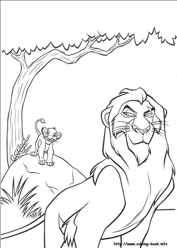 The Lion King Coloring Picture Coloring Pages 2 Pinterest