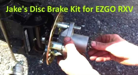 How To Install Jake's Disc Brake Kit On EZGO RXV | Golf Cart