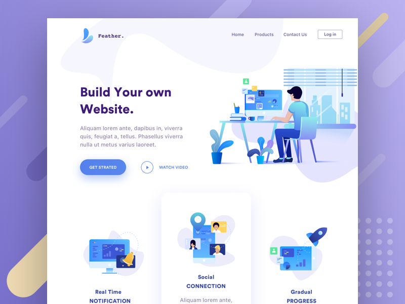 Web Header Illustration Web Layout Design Web Design Inspiration Webpage Design