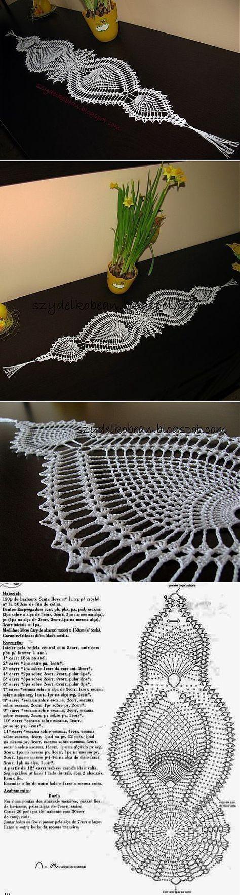 Patrn De Camino Mesa Tejido Al Crochet Y Dos Agujas Doily Diagram Patrones 2 Patterns Pin