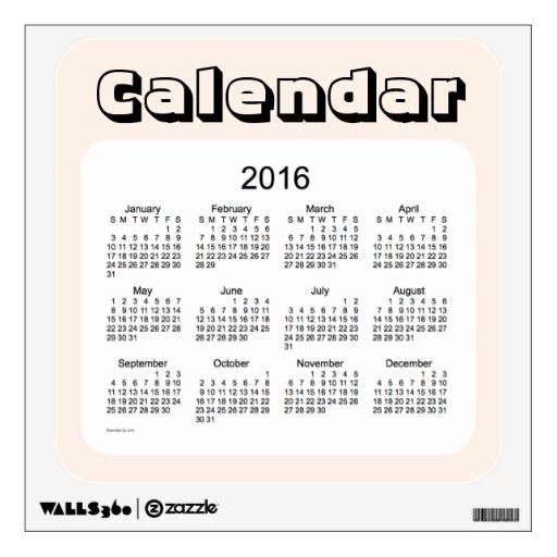 2016 Linen Calendar by Janz Wall Decal