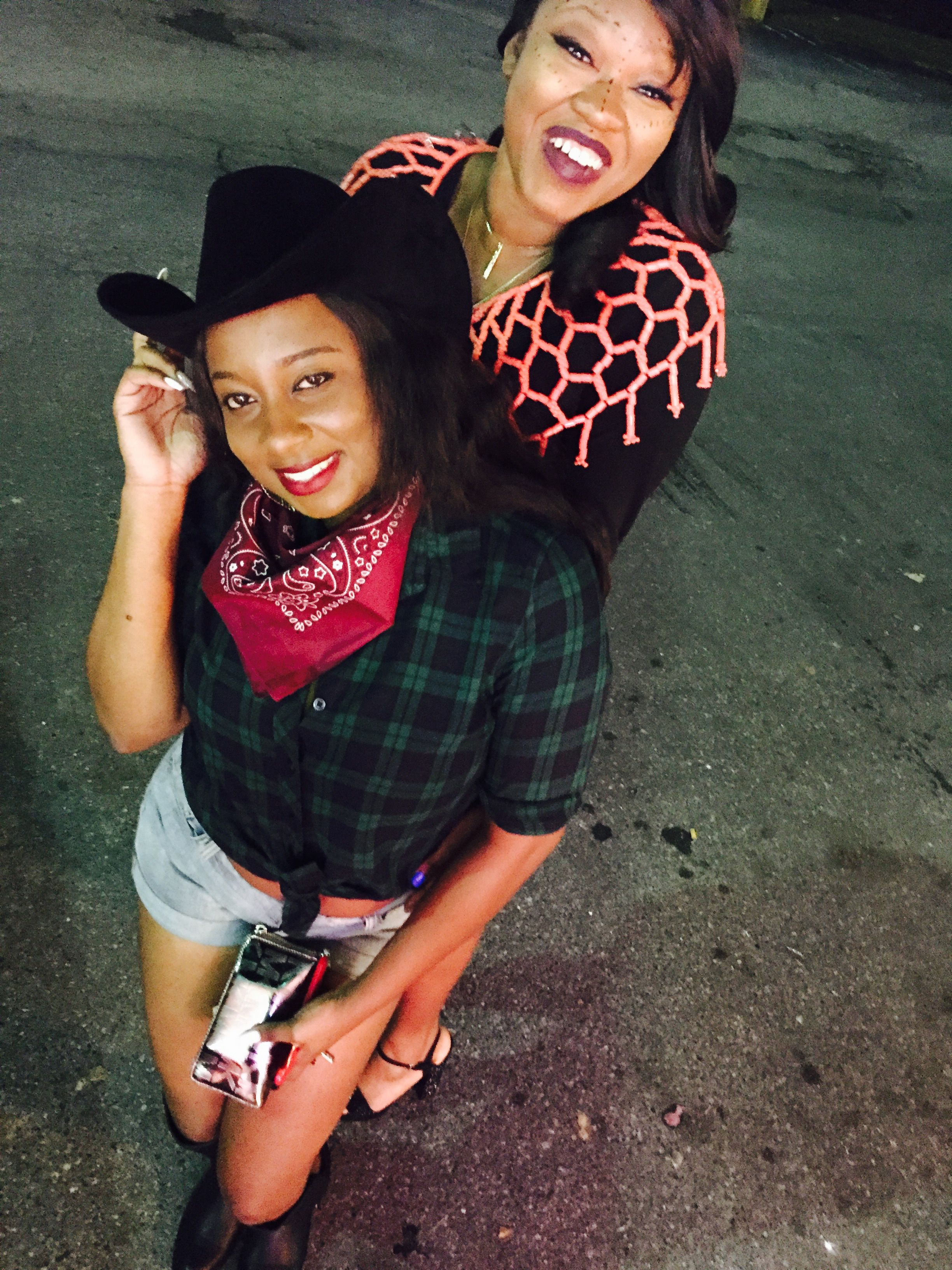 Girls just want to have fun! Cowgirl and African Queen!!