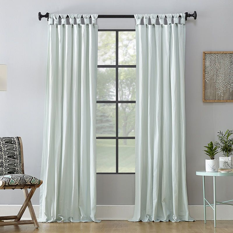 Archaeo Sarro Washed 100 Cotton Twist Tab Top Curtain Panel