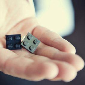 Lego Cufflinks http://www.intimateweddings.com/blog/the-lego-wedding-unique-reception-ideas/