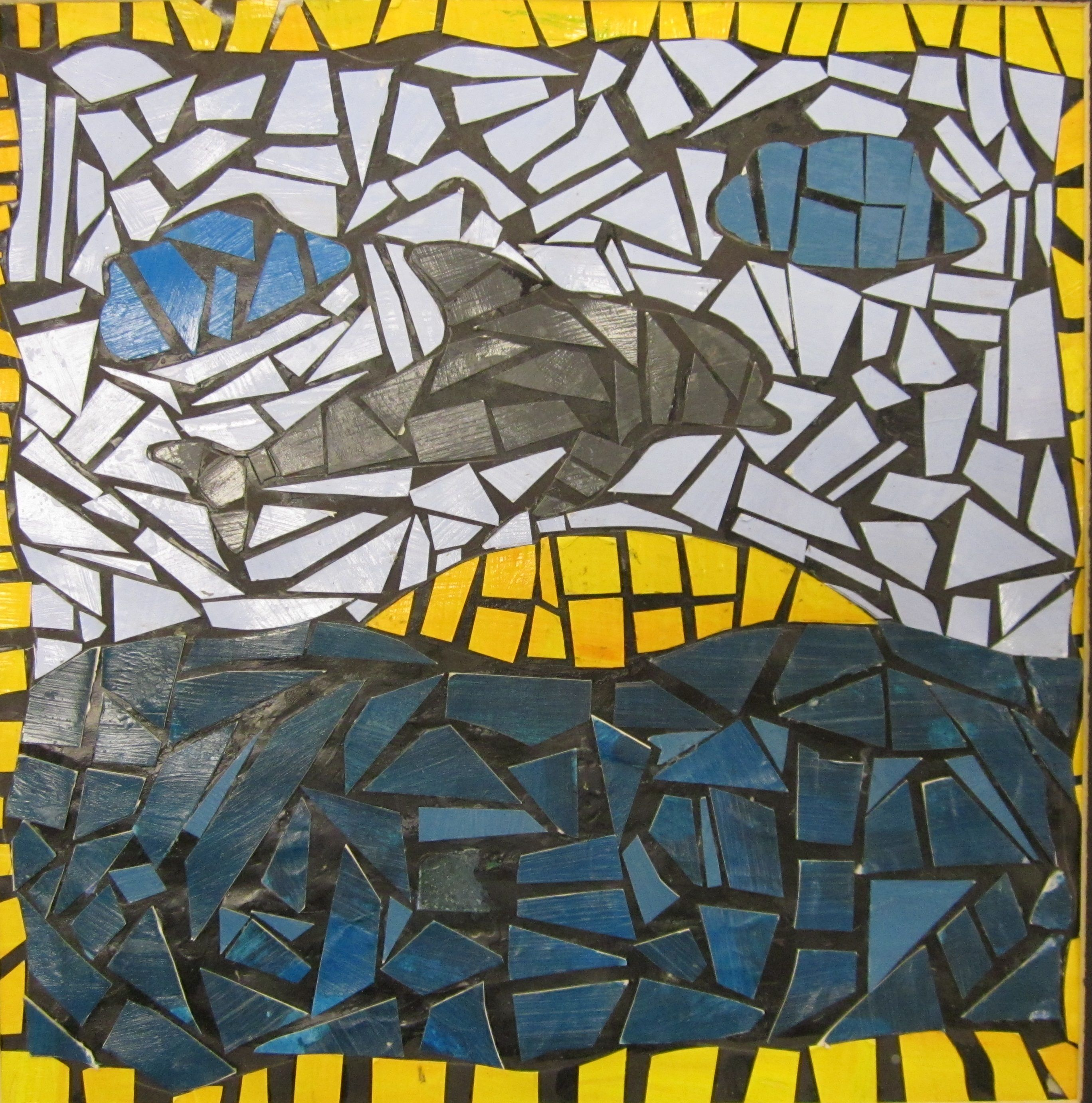 Mosaics With Hand Painted Paper 7th Grade Lesson