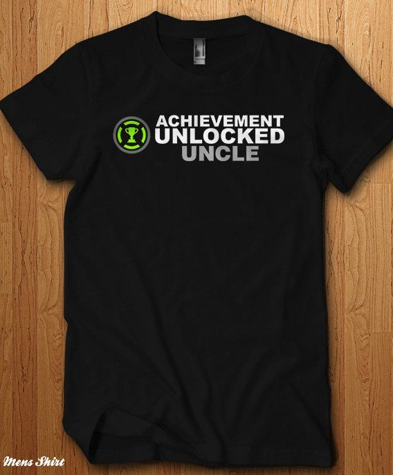 1351f0ea Achievement Unlocked Uncle Shirt New baby Surprise Tee Announcement  Pregnant New Dad Gift Daddy Fath