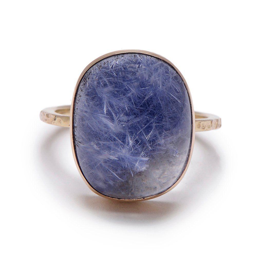 Large Dumortierite Ring Con Imagenes Anillos