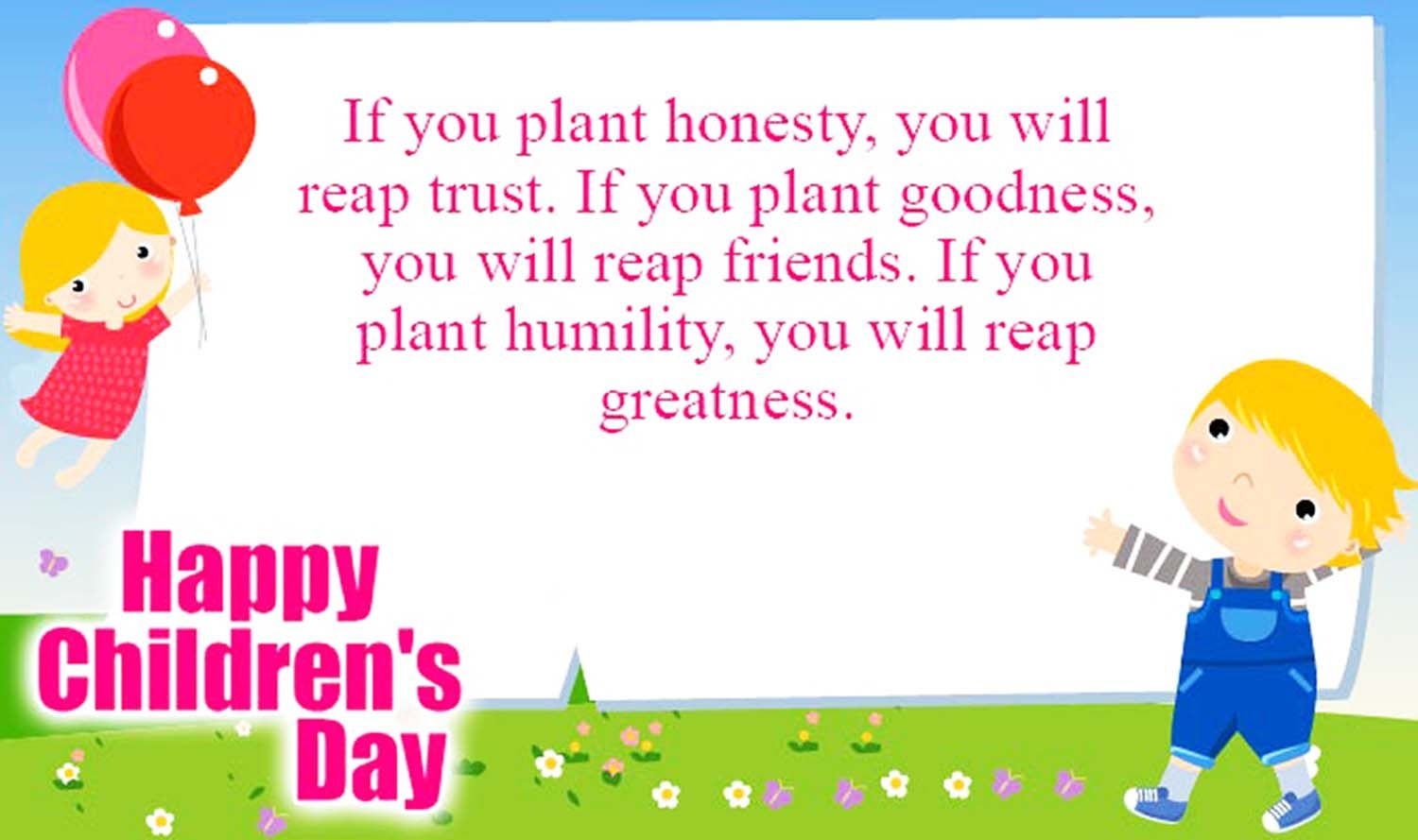 Happy Childrens Day Status Message Quotes In English Badhaaicom