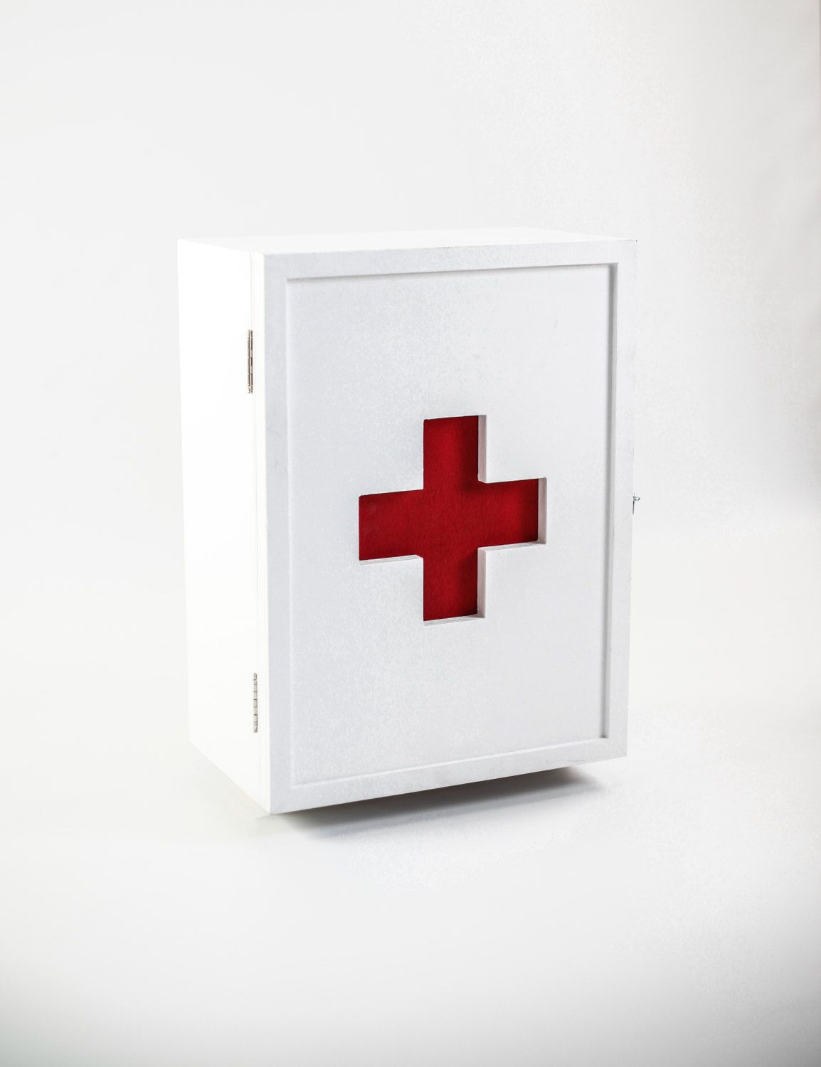 Medicine Cabinet Aid Kit Wall Closet Rustic By Habitables Wall Closet Wood Box Design Red Cross