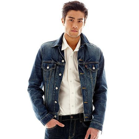 63b9b9487 Pin by Lookastic on Denim Jackets | Denim jacket men, Jean jacket ...